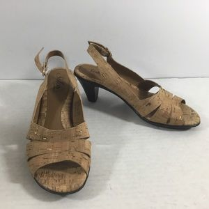 Solos by Softspots Cork Ankle Strap Sandals